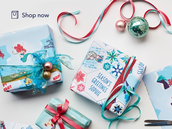 Disney - Officeworks Wrapping Paper - Princess - Game Tile Stream - Shop - Link AU