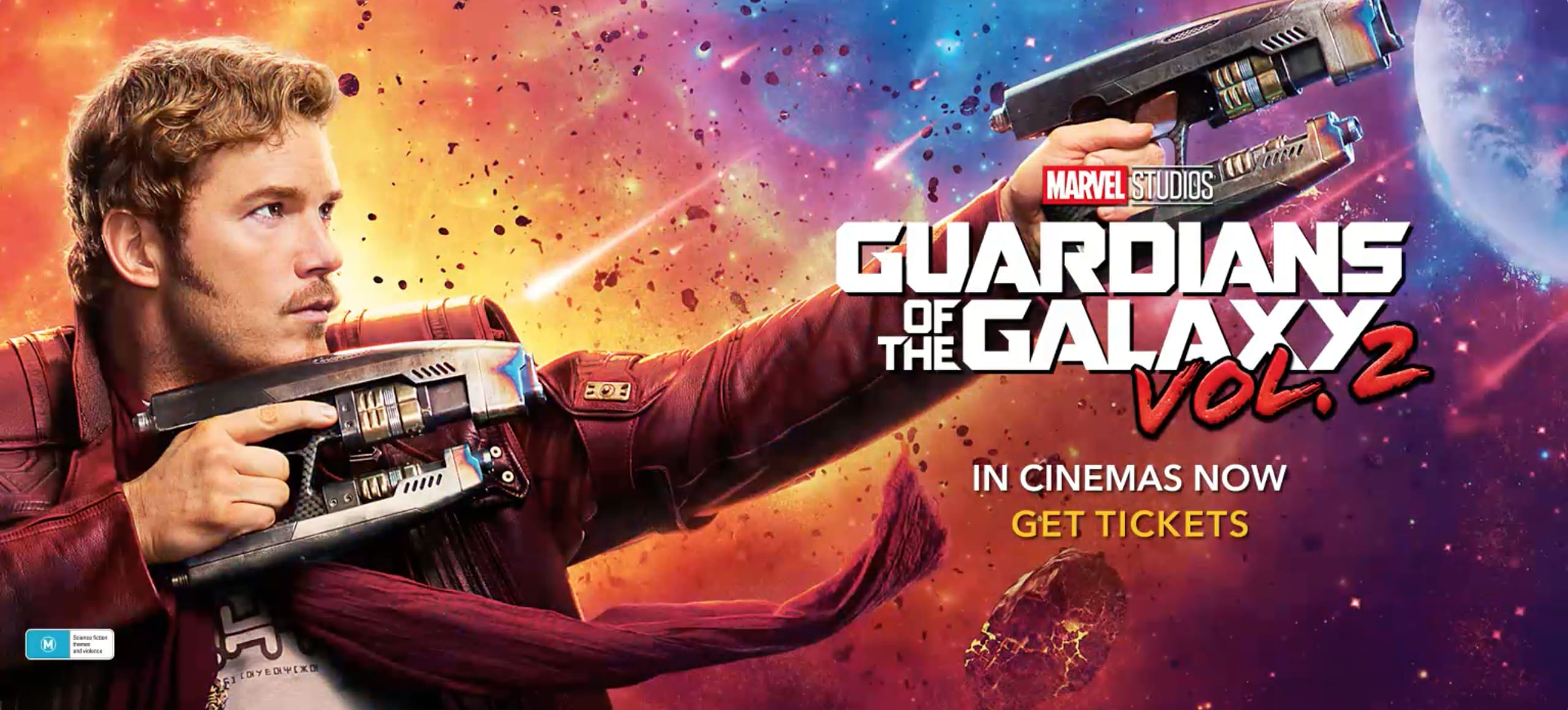 GOTG2 - Pre Buy Tickets - Desktop  Video - Homepage - Hero AU