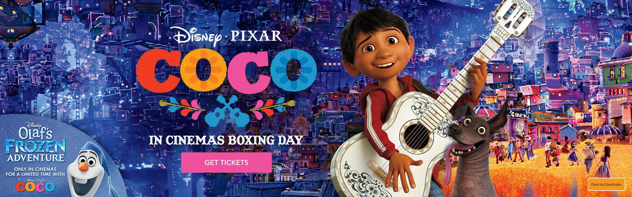 Coco - In Cinemas Boxing Day - With OFA promo - Homepage Hero - AU