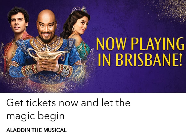 Aladdin the Musical arrives in Brisbane Feb 20
