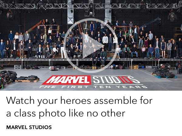 Marvel Studios Celebrate the first ten years with a class photo