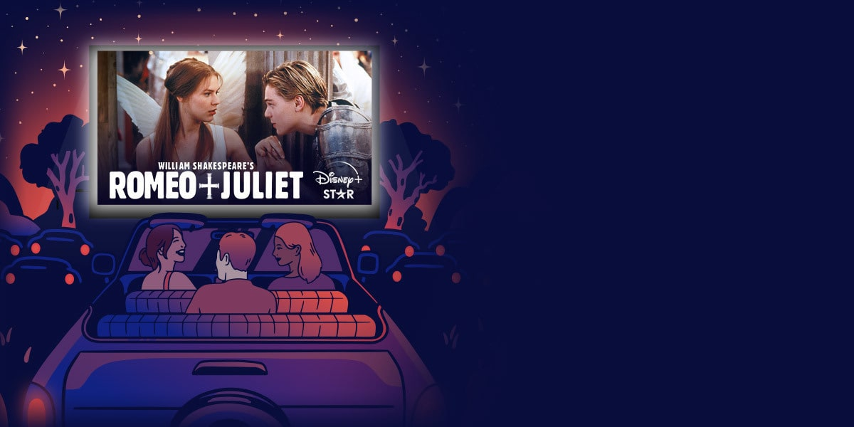 Disney Plus Drive-in featuring William Shakepeare's Romeo + Juliet