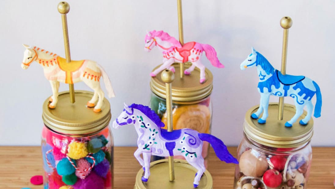 Disney Family | DIY Mary Poppins Carousel Jars