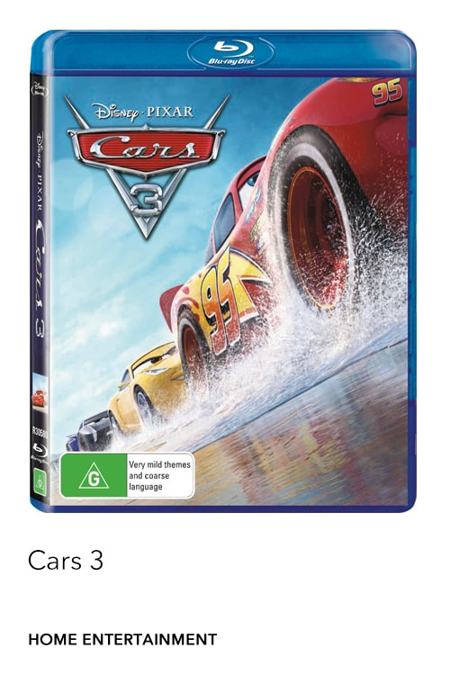 Cars 3 is now available on Digital, Blu-ray™ & DVD