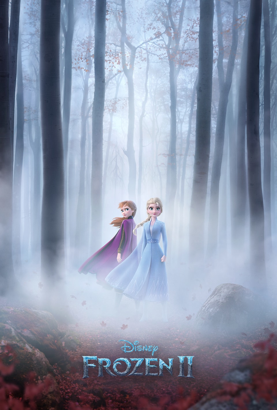 Frozen 2 Poster with a snowflake