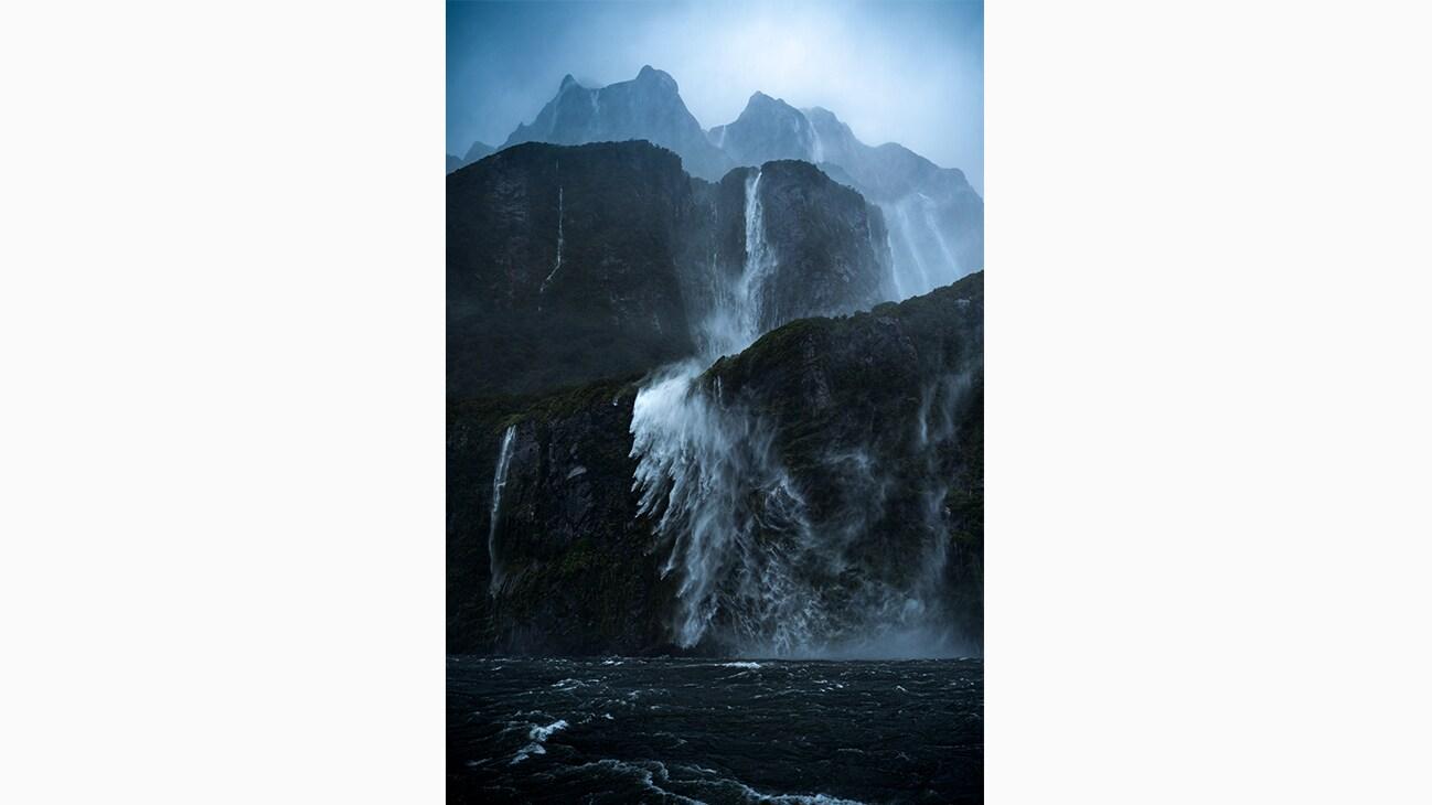 Fiordland Waterfalls in New Zealand photo by Will Patino