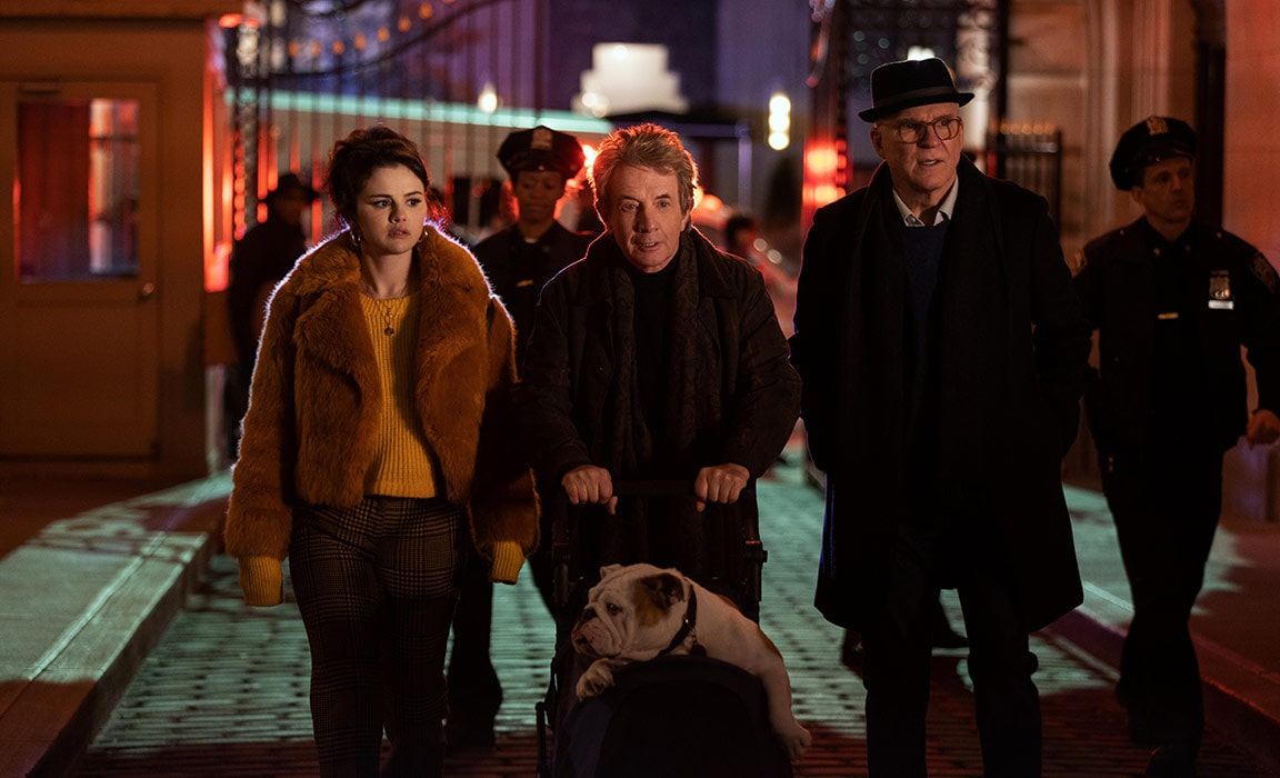 Selena Gomez, Martin Short and Steve Martin in Only Murders in the Building on Star on Disney Plus