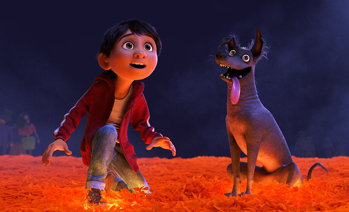 Miguel and Dante from Disney and Pixar's Coco