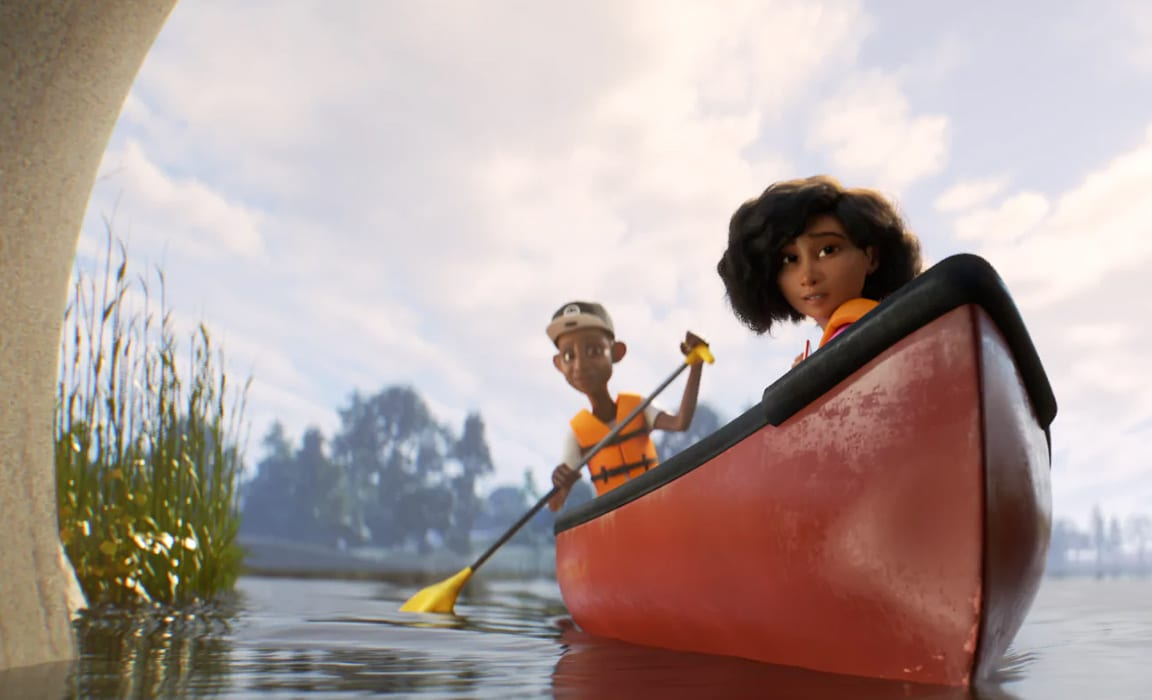 Marcus and Renee from Disney and Pixar's SparkShorts short Loop