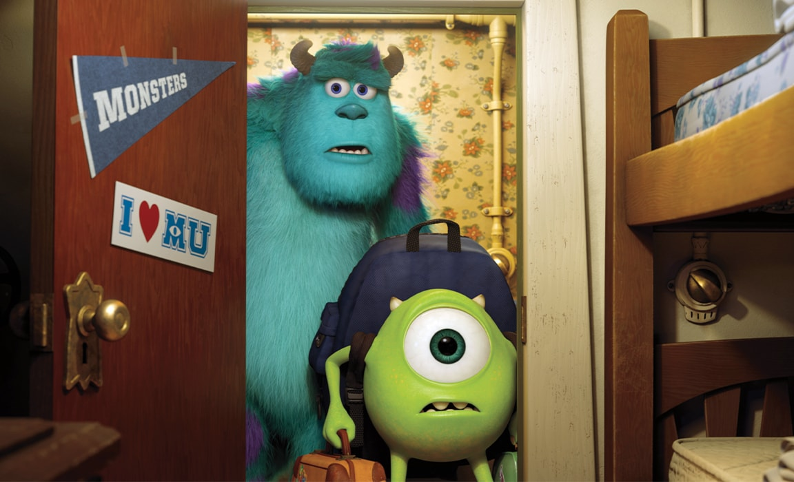 Mike and Sulley from Disney and Pixar's Monsters University