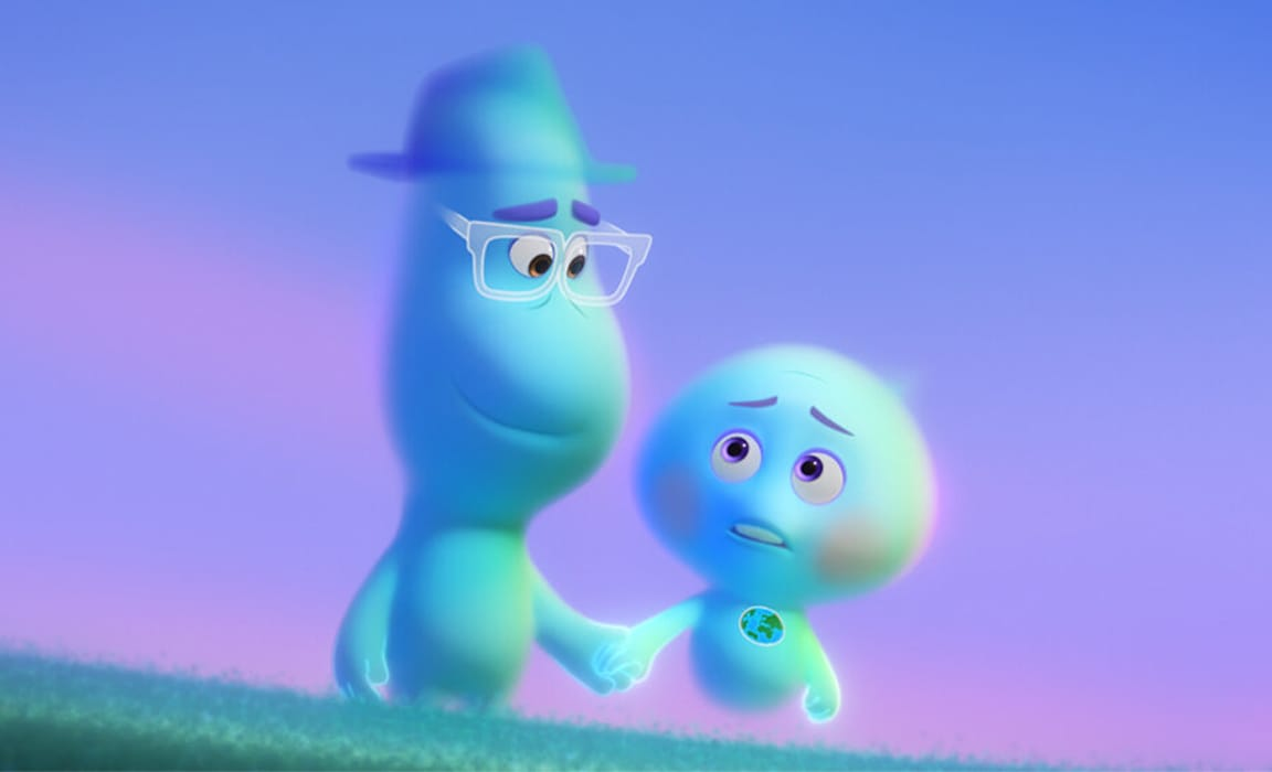 Joe and 22 from Disney and Pixar's Soul