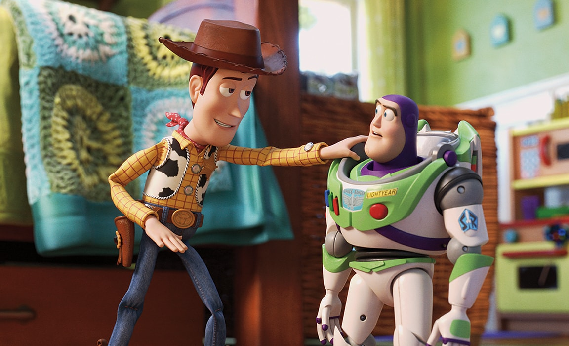 Woody and Buzz Lightyear from Disney and Pixar's Toy Story 4