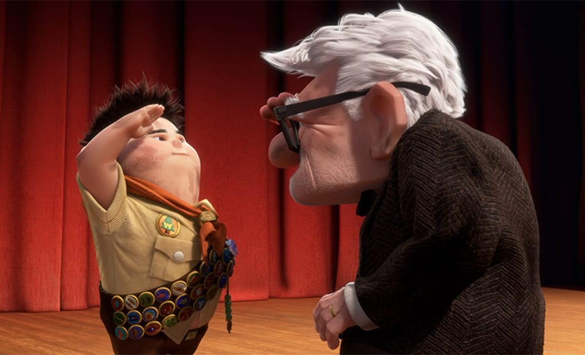 Russell and Carl from Disney and Pixar's Up
