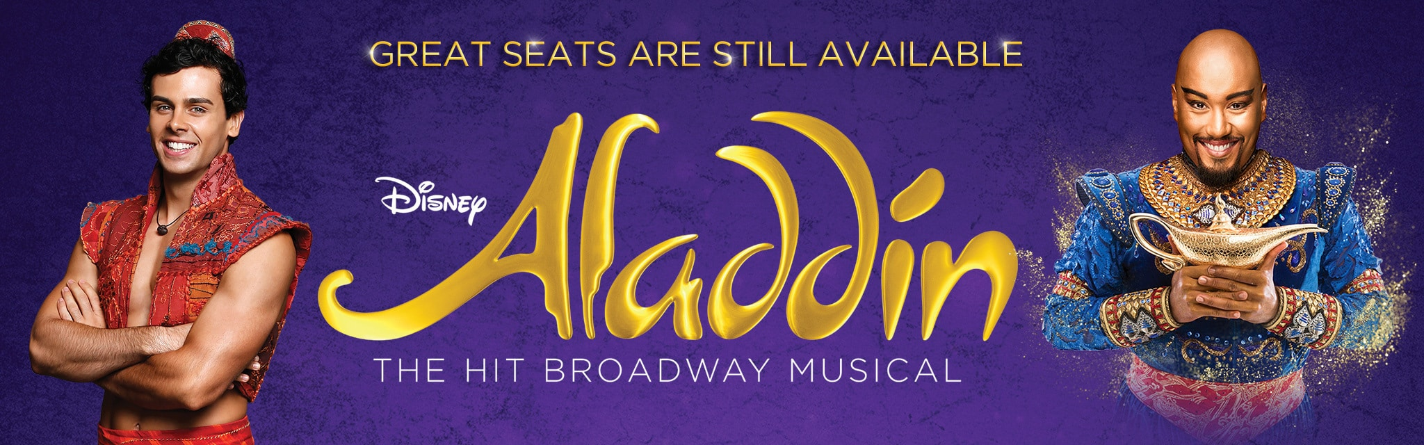 Live Shows AU - Aladdin Ticketing Site - Great Seats Available Hero