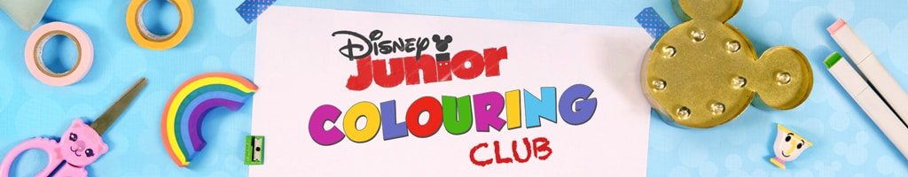 Visit the Disney Junior Colouring Club page