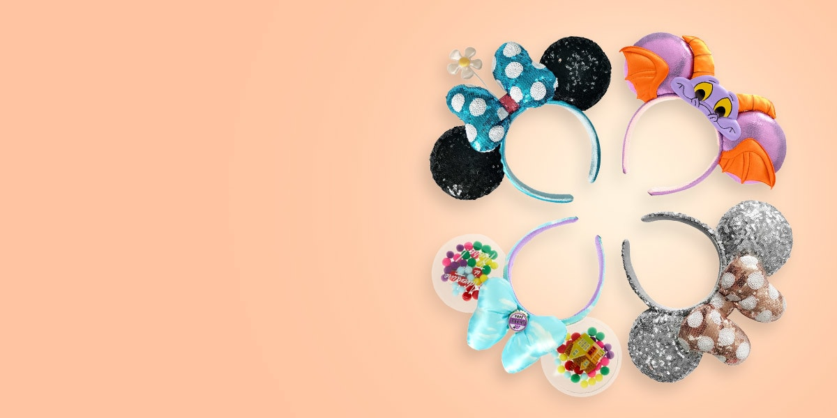 A range of Disney ears and headbands from shopDisney UK