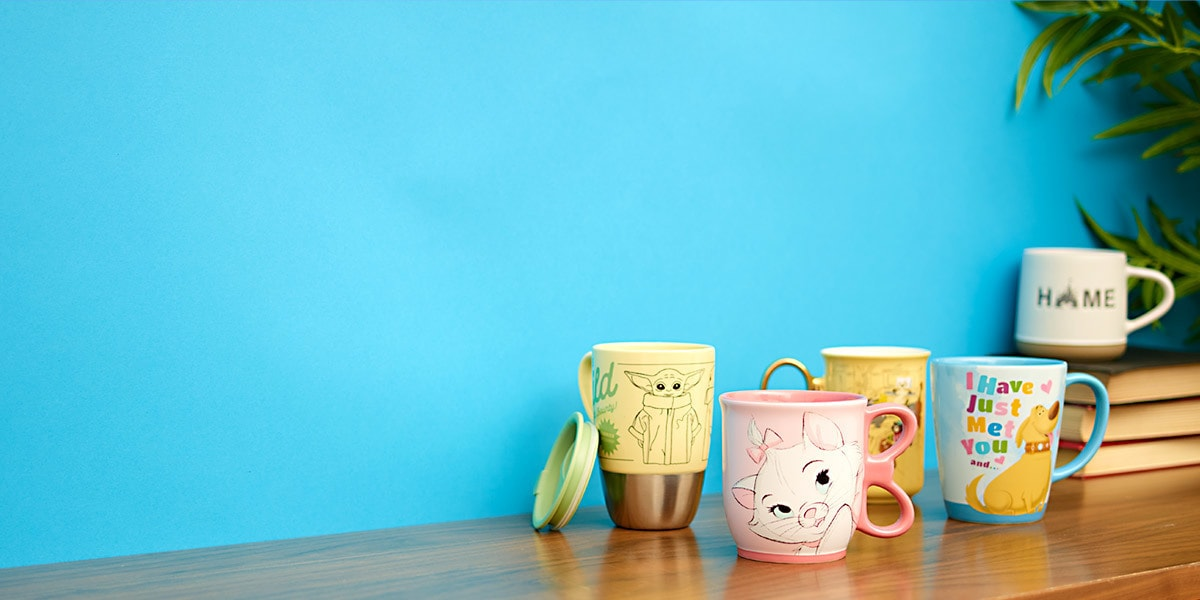 A range of character mugs from shopDisney UK.