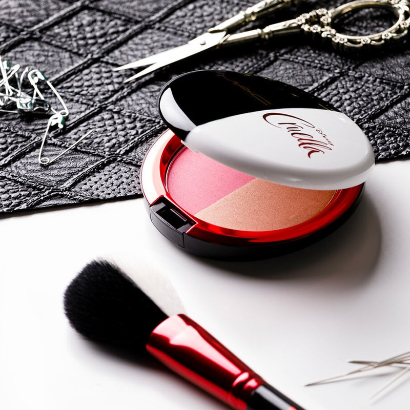 Items from the limited edition M.A.C x Cruella make-up collection.