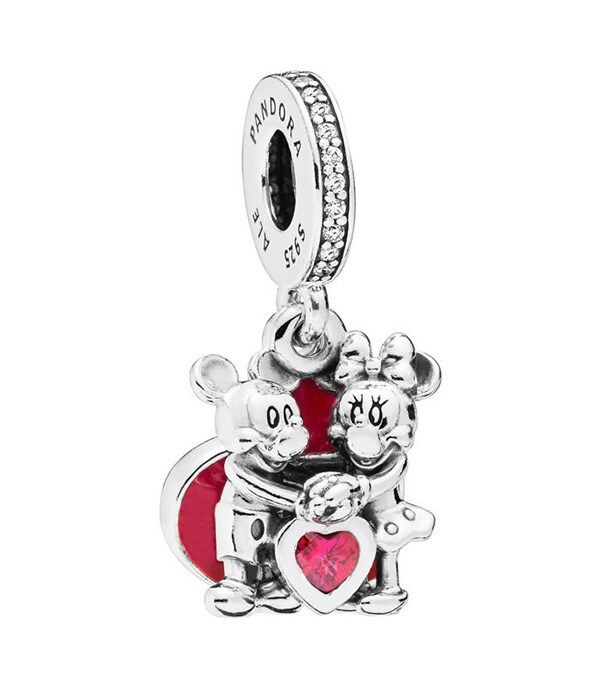 Mickey & Minnie With Love Charm