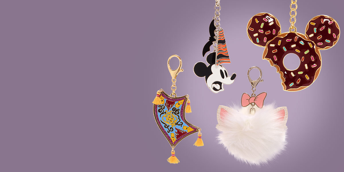 The range of charms and key rings from shopDisney UK