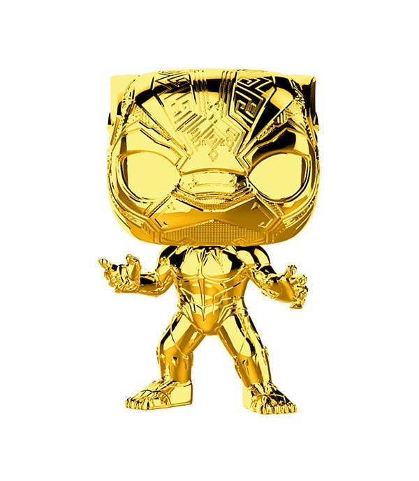 Shop Marvel - The First Ten Years -Black Panther Gold Chrome Pop! Vinyl Figure