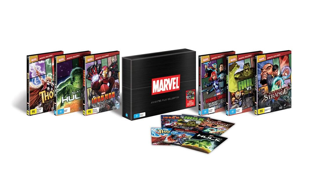 Shop Marvel - Novelty - Marvel Animated Film Collection Box Set