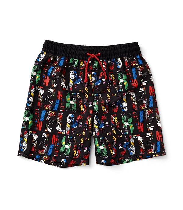 Shop Marvel - Clothing and Accessories - Marvel Comics Text Print Boardshorts
