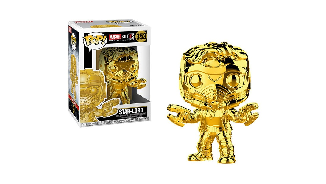 Shop Marvel - The First Ten Years - Star-Lord Gold Chrome Pop! Vinyl Figure