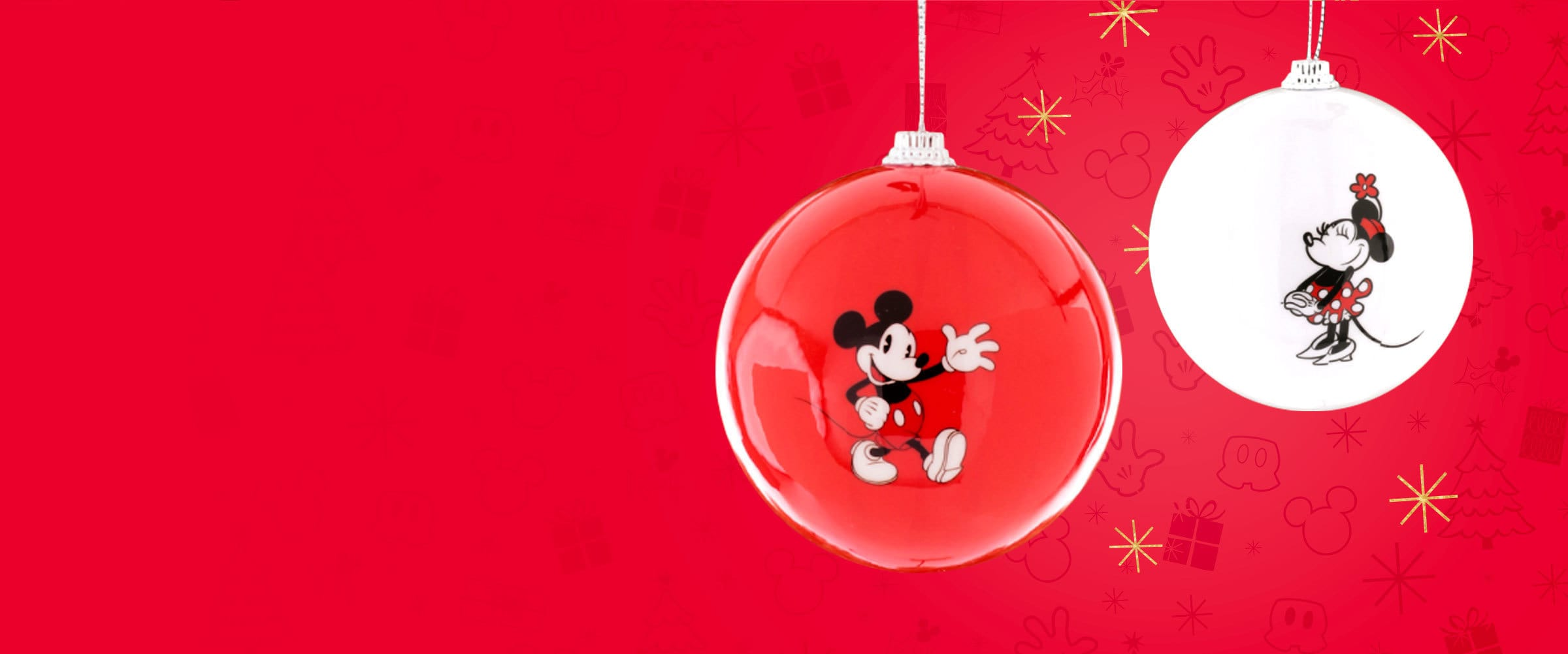 Shop   Mickey Mouse home   Hero   Christmas Baubles
