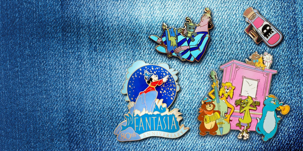 Accessorise with a range of Disney pins