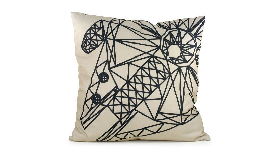 Millennium Falcon Outdoor Pillow