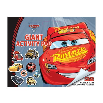 Giant Colouring Pad: Cars 3