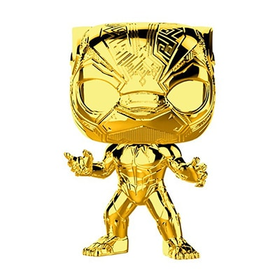 Black Panther Gold Chrome Pop! Vinyl
