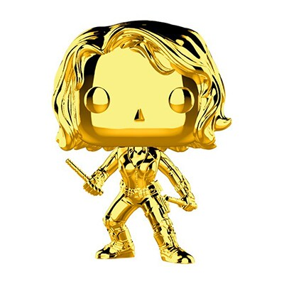 Black Widow Gold Chrome Pop! Vinyl Figure