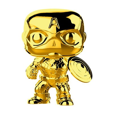 Captain America Gold Chrome Pop! Vinyl