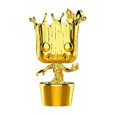 Dancing Groot Gold Chrome Pop! Vinyl