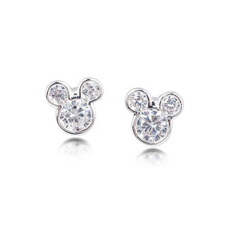 Mickey Mouse Crystal Stud Earrings