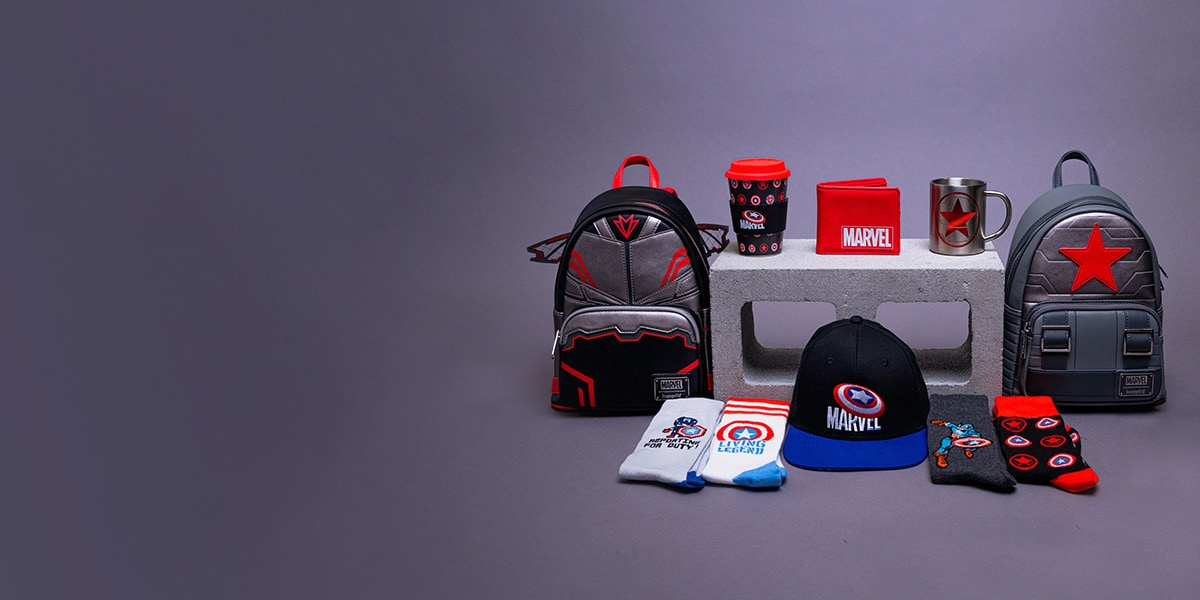 Discover The Falcon and The Winter Soldier range of bags, clothing, toys and accessories from Zing.