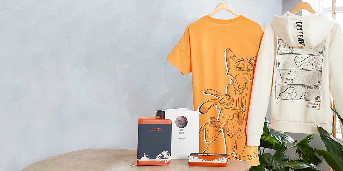 The Zootopia range of clothing and stationery from shopDisney UK.