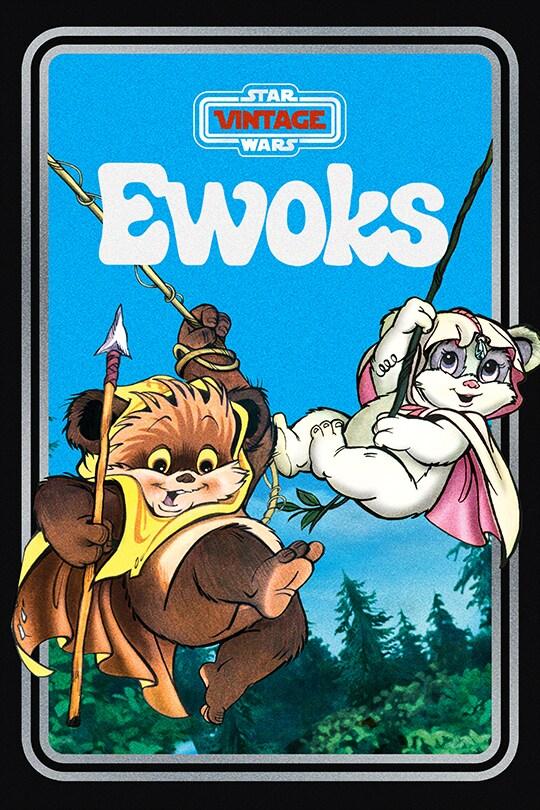 Star Wars Vintage: Ewoks poster