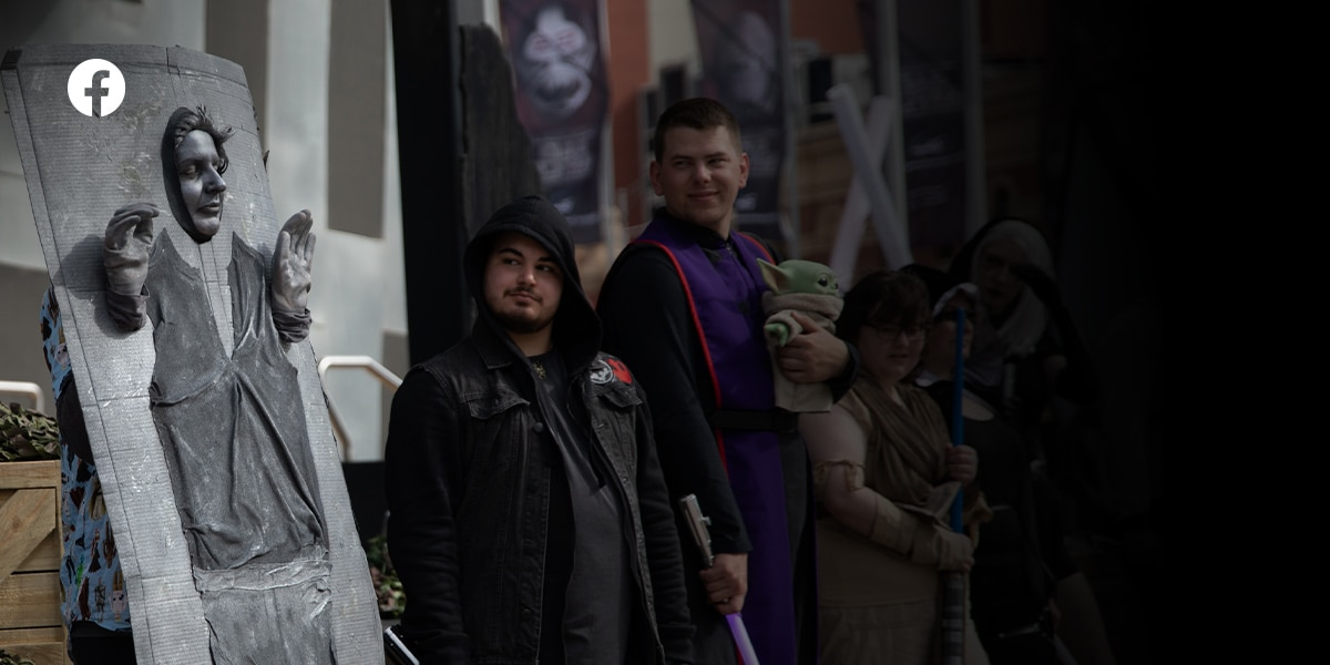 A photo of Star Wars fans in cosplay. Like Star Wars Australia and New Zealand on Facebook.