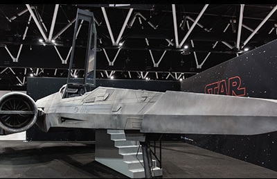 Life-size X-wing in Melbourne's Fed Square