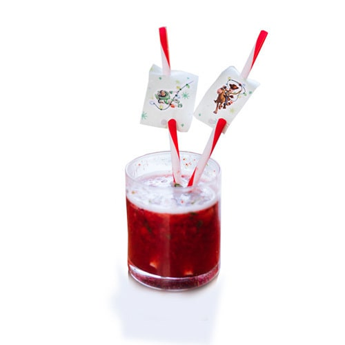 Berry Lemonade Recipe & Straw Toppers