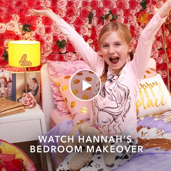Hannah's Beauty and the Beast Inspired Bedroom Makeover