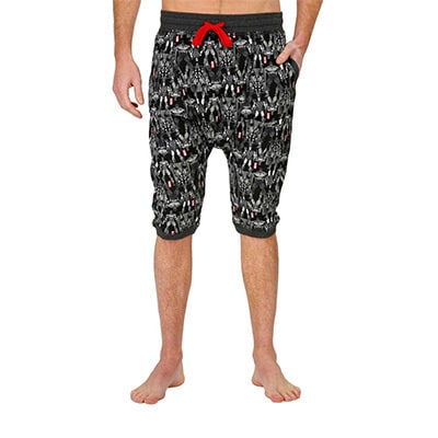 Marvel Men's Harem Short Charcoal