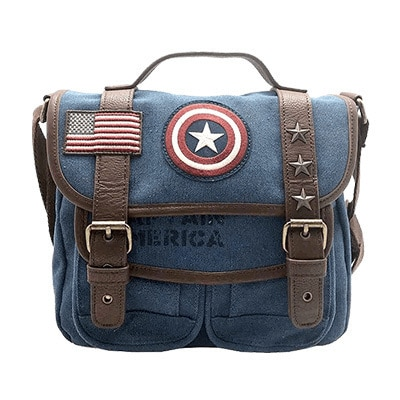 Captain America Loungefly Canvas Crossbody Bag