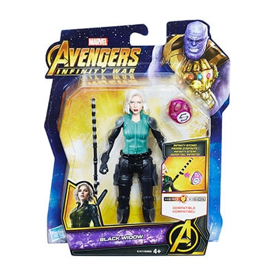Black Widow Figure with Infinity Stone