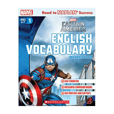 Captain America English Vocabulary Workbook