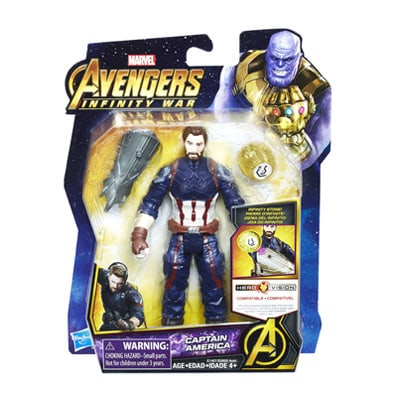 Captain America Figure with Infinity Stone