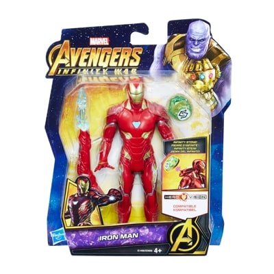 Iron Man Figure with Infinity Stone